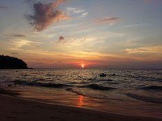 I'm always here.and I wish you were here someday. Sunset at Karon beach Phuket Thailand.