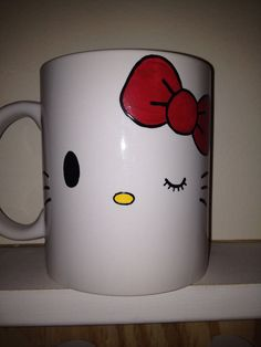 Handpainted Kitty Mug by ColorWrapped on Etsy, $13.95