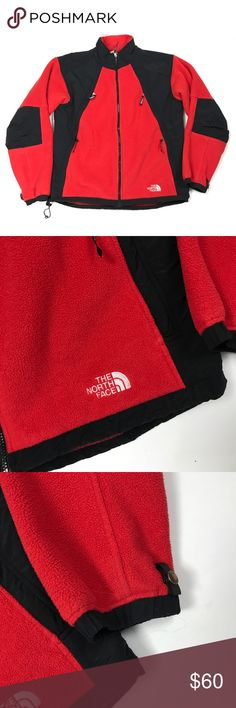 The North Face Men's Fleece Polar Sun Jacket The North Face Polar Sun Fleece Jacket. Has a polartec tag on the inside. Red & black color. Size large. The inside has some pilling but outside looks great! The North Face Jackets & Coats Lightweight & Shirt Jackets