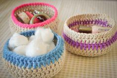 crochet baskets - Free pattern
