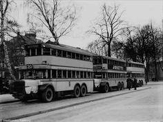 Berlin, Straßenbilder - Autobus 20, Endhaltestelle Zehlendorf 1930er