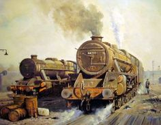 Final year at Rose Grove engine shed - Stanier and Black 5 locos Transport Pictures, South African Railways, Foto Top, Steam Railway, Train Art, British Rail, Train Engines, Steam Engine, Steam Locomotive