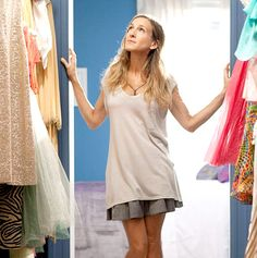 """I like my money right where I can see it…hanging in my closet."" – Carrie Bradshaw // #Fashion #Style"