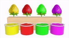Learn Colors with Strawberry Fruit Colors For Children Kids Learning Color Videos For Toddlers