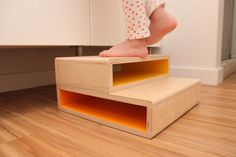 Step Up | A Modern Step Stool for Kids on Behance