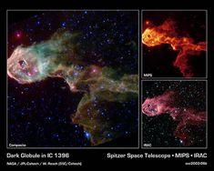 Dark Globule in IC 1396 - NASA Spitzer Space Telescope - Credit: NASA/JPL-Caltech/W. Reach (SSC/Caltech)