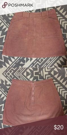79ab8d38882ca Kendall + Kylie pink corduroy mini skirt great condition