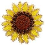 ThreadABead Sunflower Flower Brooch Pattern