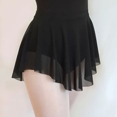 Ballet Sheer Black Micro Mesh Dance Skirt SAB style by RoyallDancewear