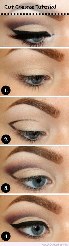 Perfect cut crease step by step