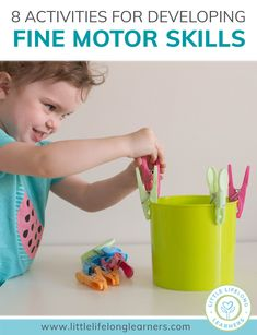 8 activities to develop fine motor skills at home - Little Lifelong Learners