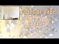 Flores de papel para la pared - YouTube