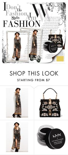 """""""sheinside"""" by lana-97 ❤ liked on Polyvore featuring Balenciaga, Dolce&Gabbana and NYX"""