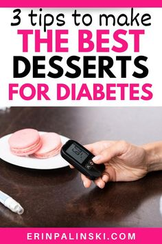 If you're making diabetes desserts, learn how you can make them healthier and better for your blood sugar control with this post! There's tips about how to reduce added sugar, add fiber, and focus on decreasing refined carbohydrates. These diabetes nutrition tips will help you make the best desserts for your body!