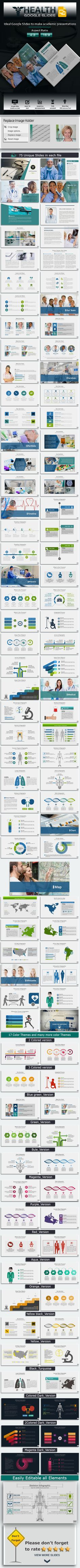 Health #Google #Slides Template - Google Slides Presentation #Templates Download here:  https://graphicriver.net/item/health-google-slides-template/13049624?ref=alena994