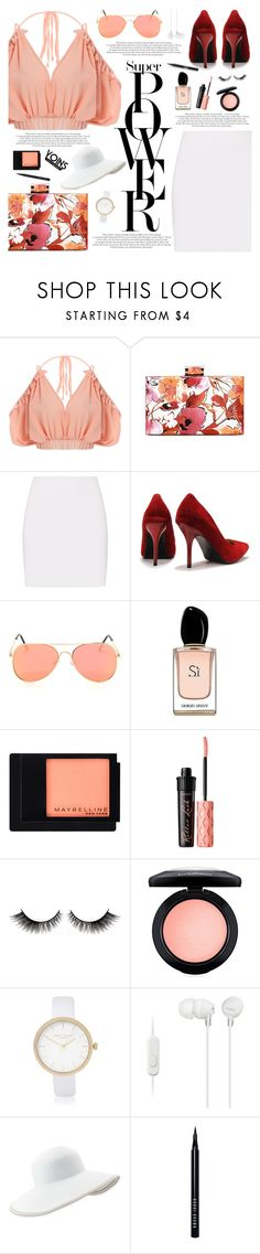 """Yoins #13"" by katarinamm ❤ liked on Polyvore featuring Helmut Lang, Armani Beauty, Maybelline, Benefit, MAC Cosmetics, River Island, Sony, Eric Javits, Bobbi Brown Cosmetics and Stila"