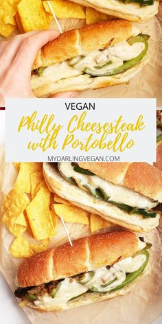 This vegan Philly cheesesteak is made with a portobello mushroom and has so much flavor! Super easy to make, this sandwich is perfect for lunch or dinner!