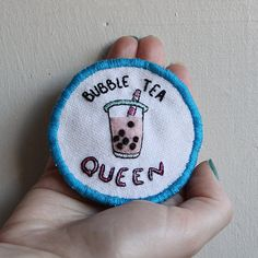 boba is love. boba is life. the original badges shown have been sold, this listing is for made to order pieces with your choice of text and felt