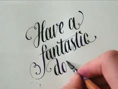That is some gorgeous calligraphy!