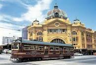 2 Melbourne Icons: Flinders St Station and the free Tourist Tram that circles the city. Melbourne, in Victoria, Australia ~ Vic Australia, Melbourne Australia, Australia Travel, Melbourne Tram, Melbourne Shopping, Visit Melbourne, Melbourne Attractions, Melbourne Victoria, Dream City