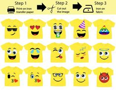 15 Pack Printable Emoji iron on transfers / Emoji iron on for yellow shirts / Emoji Birthday / Inst Emoji Birthday Shirt, Emoji Shirt, Birthday Shirts, Big Group Halloween Costumes, Emoji Halloween Costume, Group Costumes, Halloween Fun, Party Emoji, Girl Emoji
