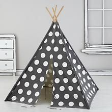 A Teepee to Call Your Own (Grey and White Dot) in New Toys and Gifts | The Land of Nod