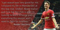 Post with 0 votes and 22 views. [Pic/Quote] Ander Herrera on last season, the club, & looking forward to this season Soccer Quotes, Looking Forward, Man United, Trending Memes, Funny Jokes, The Unit, Seasons, Club, Life