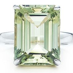 Loooooove emerald cut stones, Tiffany & Co.