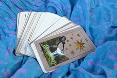 Full deck of 78, individual tarot cards, each measuring 2.75 x 4.75 (70mm x 121mm), or the standard tarot deck size (slightly larger than a deck of playing cards). To create each card, I first researched the meaning, variations and commonly used imagery. I then created an original