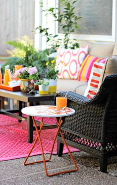colorful patio accents