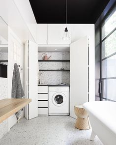 """72c27102fbbab Interior + Scandinavian Design on Instagram: """"// STOP. IT. SALLY.  @the_northbourne_effect :) Is that a Concealed Laundry with white tapware +  a diamond ..."""