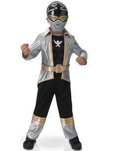 Déguisement 3D EVA Power Rangers™ Silver super mega force enfant : Ce déguisement de Power Rangers™ pour enfant se compose d'une combinaison et d'un masque (chaussures non incluses).La combinaison du Power Rangers™ est noire,...
