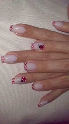 Beautiful Nail Designs, Beautiful Nail Art, Stylish Nails, Trendy Nails, Nail Designs Spring, Nail Art Designs, Ladybug Nail Art, Finger Nail Art, French Nail Art