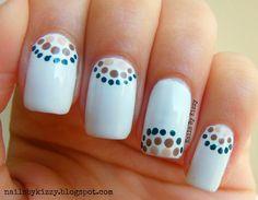 Love the white nails