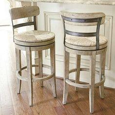 Marguerite barstool farmhouse bar stools and counter stools 1 Kitchen Counter Stools, Swivel Counter Stools, Bar Kitchen, Bar Counter, Kitchen Island, Small Bar Table, Bar Tables, Side Tables, Coffee Tables