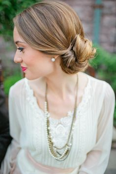 Vintage sweetness: http://www.stylemepretty.com/2014/06/04/15-updos-that-wow/