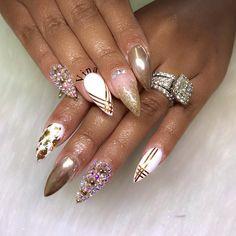"103 Likes, 13 Comments - Vina's Nails (@vinanailshouston) on Instagram: ""Custom nails design @crys2182 Text me your name and IG for appt #houstonnails #mattenails…"""