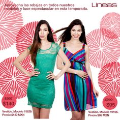 Aprovecha nuestras rebajas. #Lineas #outfit #moda #tendencias #2014 #ropa #prendas #estilo #primavera #outfit #vestidos