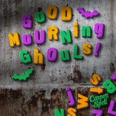 Halloween Art Artist Good Mourning Ghouls Refrigerator Magnets Casper Spell (www.CasperSpell.com)