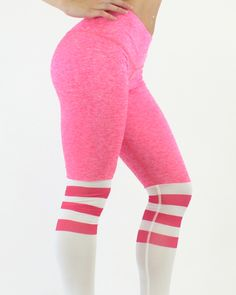 pink sock leggings fitgal activewear Sock Leggings, Workout Leggings, Athletic Body, Pink Socks, Sweat Proof, Intense Workout, Going To The Gym, Squats, Activewear