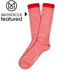 Etiquette Clothiers Boot Socks - twisted red ecru THE MOST COMFY SOCKS EVER