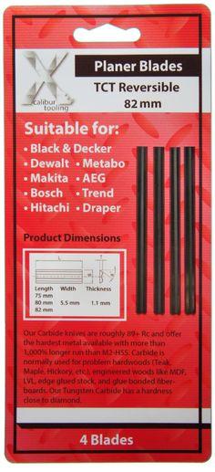 4 X Bosch Dewalt Trend 82mm Tct Carbide Planer Blades 4x82mm