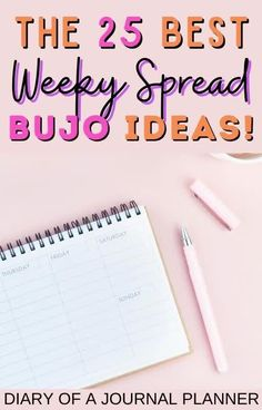 Weekly spreads made easy with this list of 25 gorgeous bullet journal weekly spreads for bujo inspiration! #weeklyspreads #bulletjournalinspiration #bujo Bullet Journal Layout Templates, Bullet Journal Contents, Bullet Journal Printables, Bullet Journals, Day Planner Organization, Bujo Weekly Spread, Bullet Journal How To Start A, Journal Quotes, Day Planners