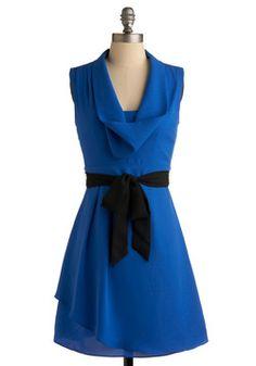 Loyal Blue Dress, #ModCloth