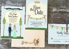 rabbit wedding invite by | VIA #WEDDINGPINS.NET