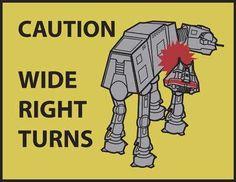 """""""Wide Right Turns"""" by Evan Earley Star Wars Art, Star Trek, Posters Geek, Geek Squad, Star War 3, Nerd Love, Star Wars Humor, Love Stars, Geek Girls"""
