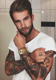 Andre Hamann - look at him look at his beard look at his tattoos look at him!!!! Not my type but undeniably hot! G See More : http://luxurystyle.biz/tattoo/