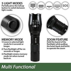 5 Section 1 Handheld Zoom Dimming Band Clip 2019 Latest Style Online Sale 50% Led Flashlights Led Strong Flashlight Multi-functional Co B Side Light No Back To Search Resultslights & Lighting