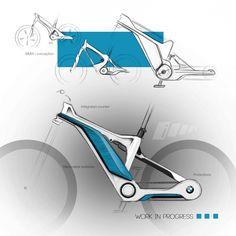 Trendy Electric Bike Sketch Ideas - pinupi love to share Velo Design, Bicycle Design, Suv Bike Rack, Bicycle Sketch, Eletric Bike, Bike Silhouette, Mountian Bike, E Mtb, Bike Illustration