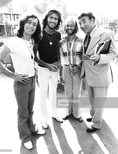 Bee Gees & Frankie Howerd on the set of Sgt. Pepper